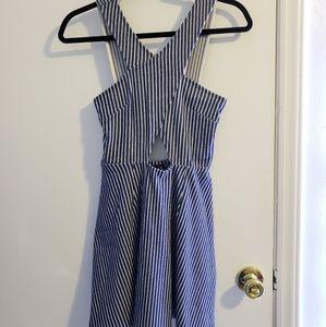 Topshop striped A-line dress